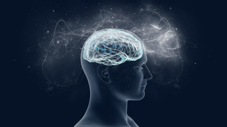 Human brain and its capabilities. Conceptual vision.